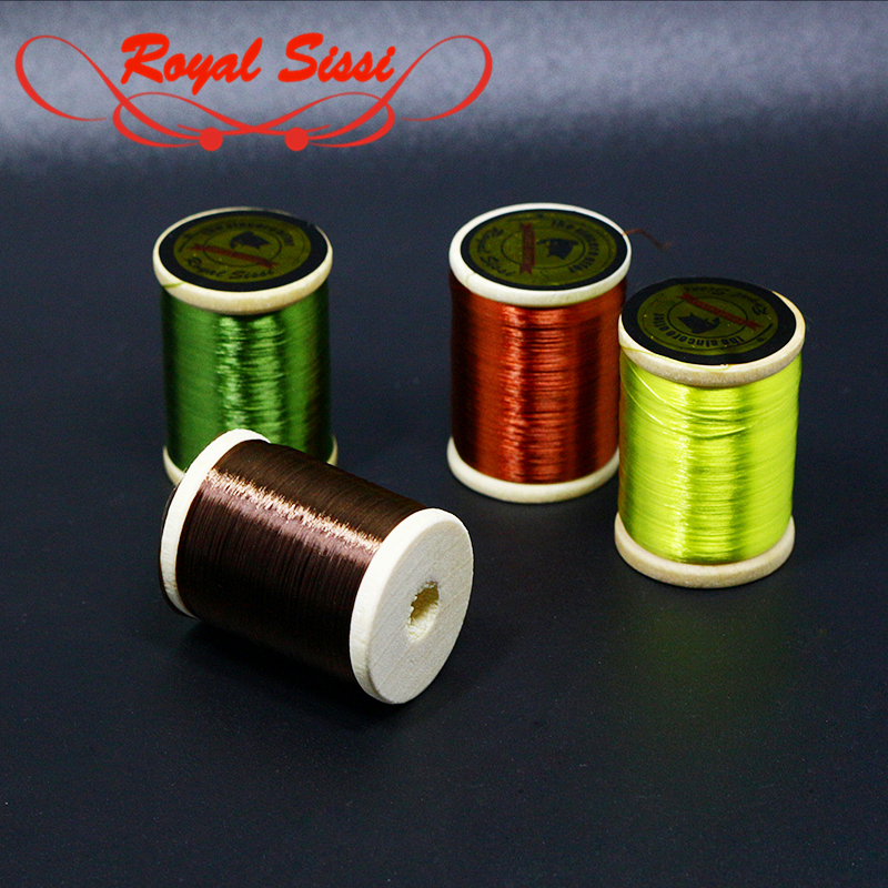 Royal Sissi Hot 75D Super Fine High Tensile Fly Tying Thread With Wooden Spool 210yds Waxed Tying Thread For Nymph Dry Wet Flies