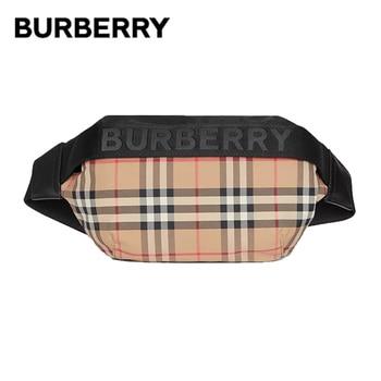 BURBERRY Vintage Plaid Nylon Waist Belt Bags Adjustable Clip Belt Zip Pocket Shoulder Crossbody Chest Bum Bag For Women 80265571