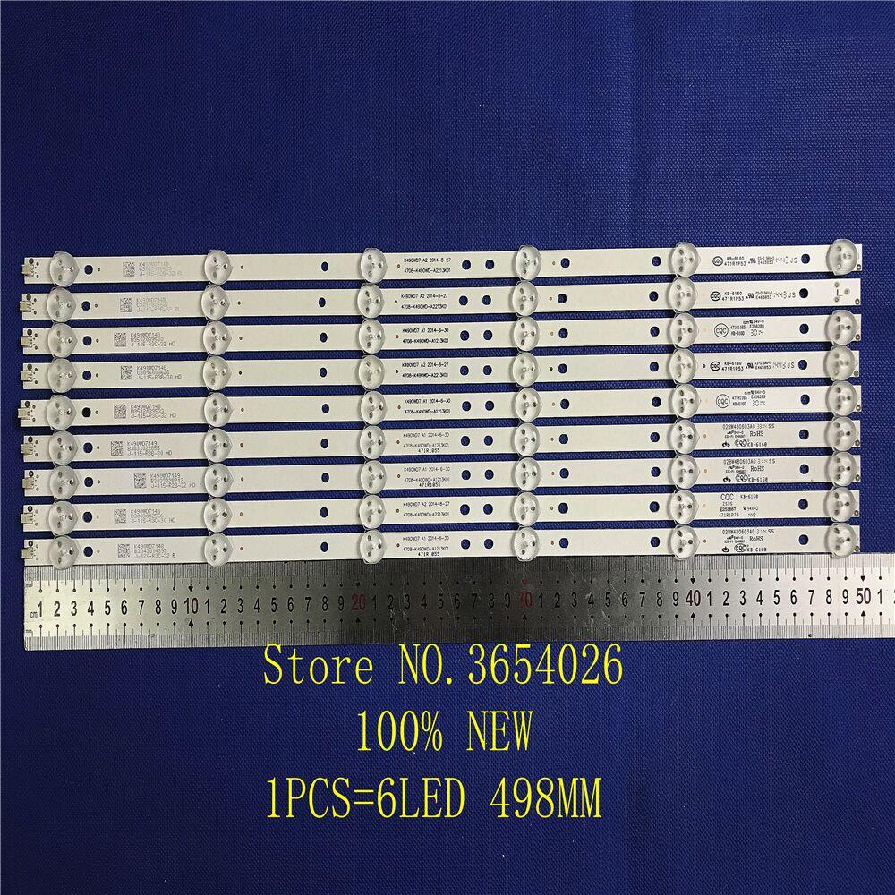 1 Set=9 Pieces LED Backlight Strip ForTCL LE49D88UD K490WD7 A2 4708-K490WD-A2213K01