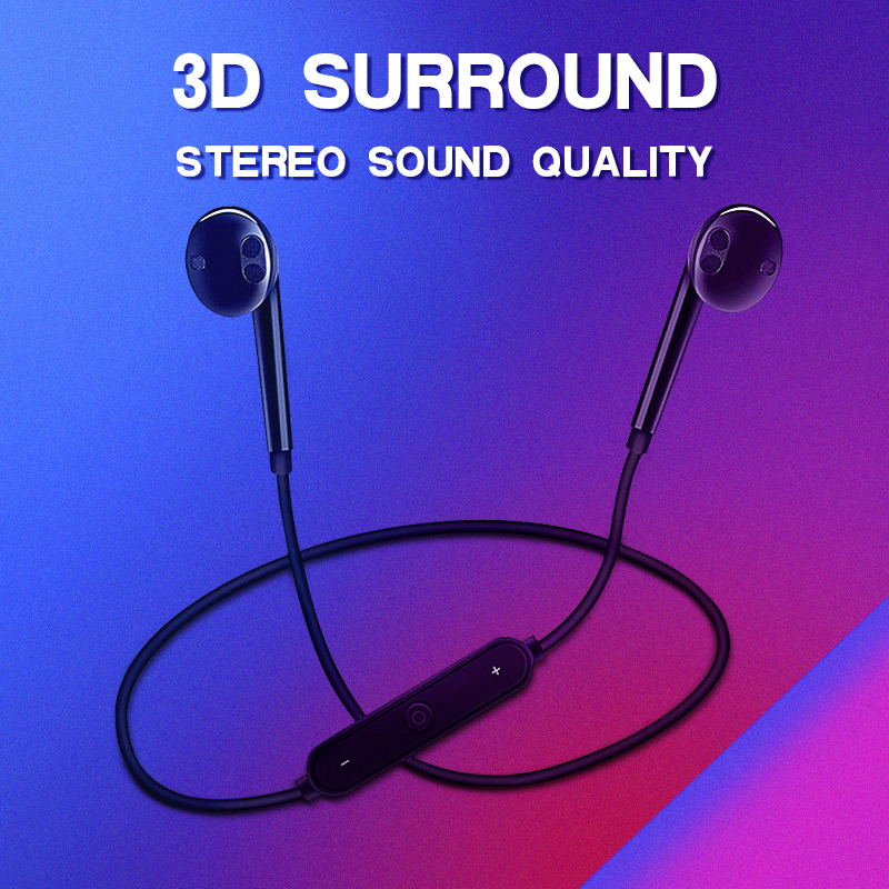 S6 Wireless Bluetooth Headset Sports Headphones 3d Stereo Built In Microphone Stylish Bluetooth Headset Support A Variety Of App Bluetooth Earphones Headphones Aliexpress