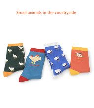 Mid-sock Socks Autumn and Winter New Cartoon Series Rural Small Animal Personality Ladies Cotton Tide Fashion