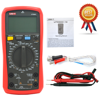 UNI T UT890C True RMS Digital Multimeter with Backlight AC/DC Frequency Multimeter Ammeter Multitester Free Shipping|Multimeters|Tools -