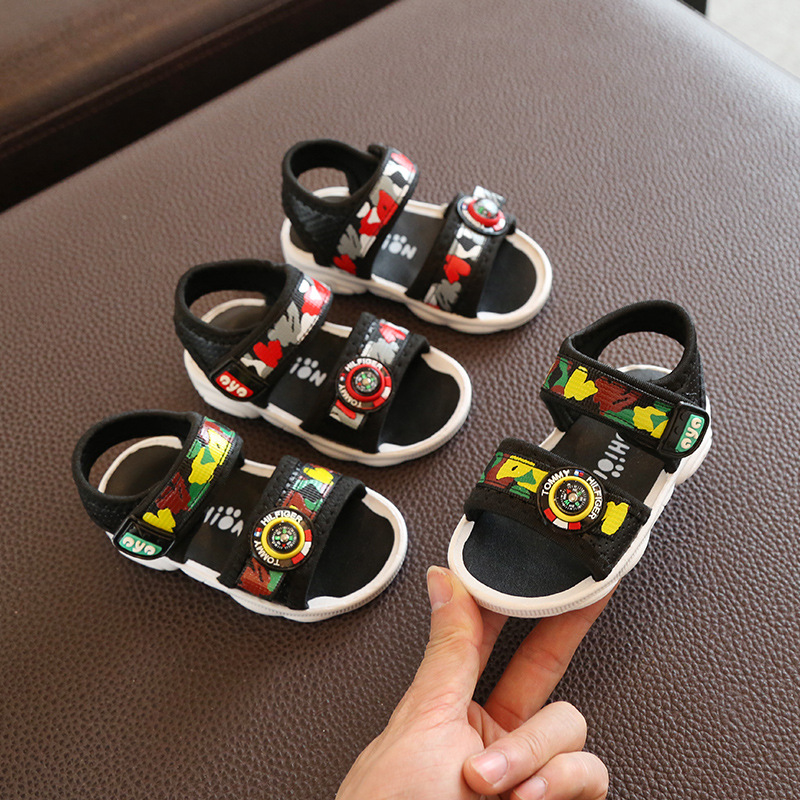 2020 Summer New Baby Boys Beach Shoes Soft Rubber Sole Infant Toddler First Walkers Baby Boy Summer Shoes Flats Sale