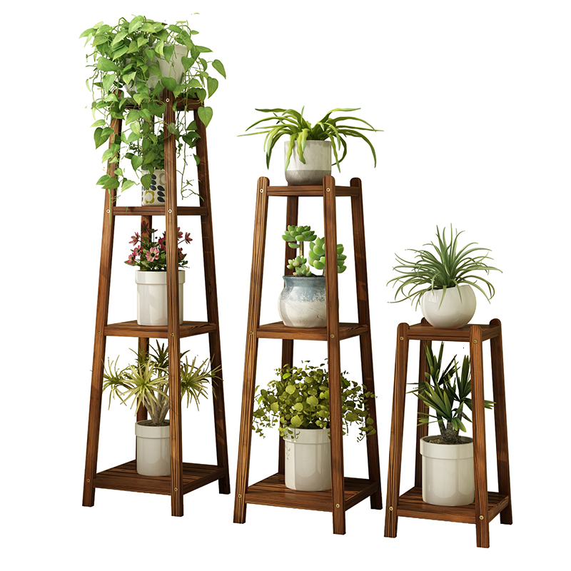 Room And Foreign Balcony Storage Anticorrosive Solid Wood Green Luo A Living Room Flower Stand Single Pelvic Shelf Household