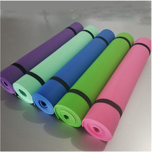 Environmental protection eva yoga mat tasteless non-slip outdoor 4mm beginner tablet support fitness