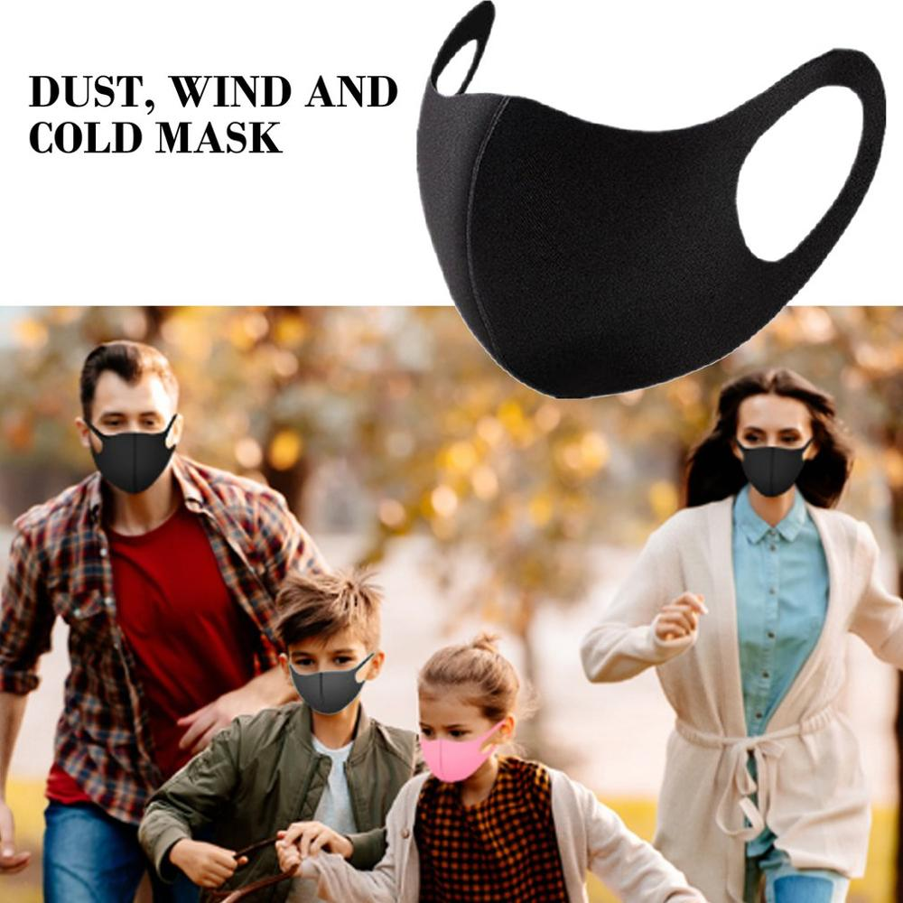 1/5Pcs Kids Or Adults Mouth Mask Washable Breathable Anti-drip Air Pollution Neutral / Sunburn Mouth Mask