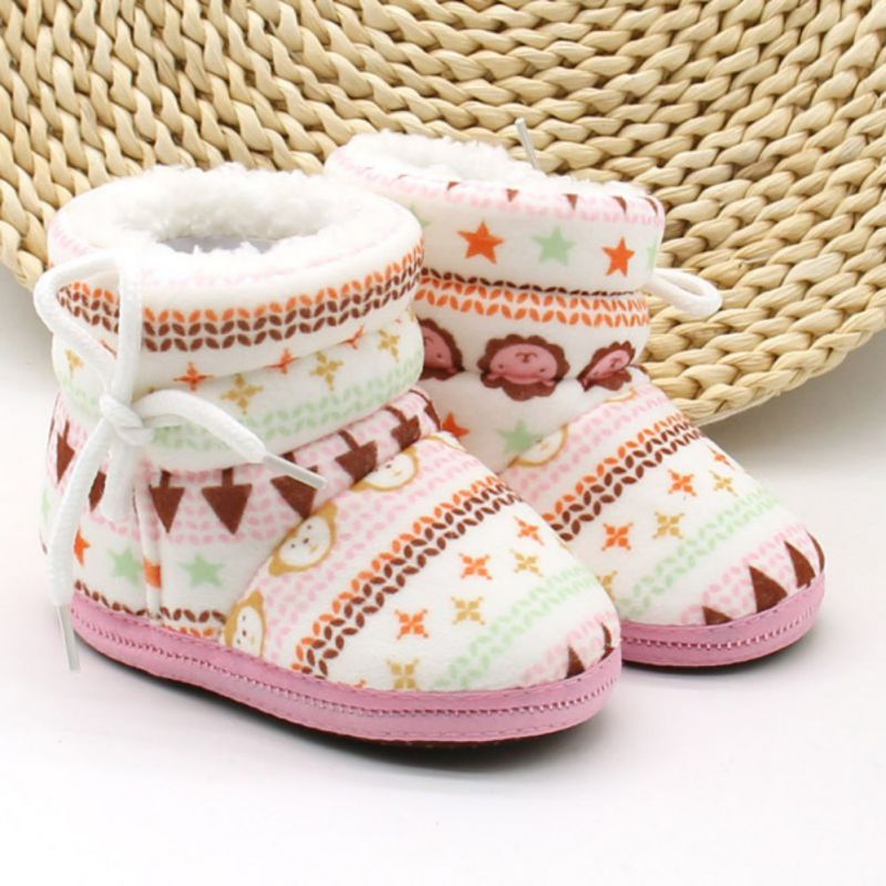 2019 Newborn Baby Shoes Toddler Shoes Girl Boy Winter Baby Boots Warm Fleece Children Kids Snowboots Bebe Shoes