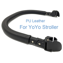 Baby Stroller Accessories High Class Leather Armrest for Babyzen YOYO 2 YoYa Babytime Vovo Pram PU Bumper Bar Handrail