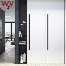 Wv armário americano preto porta de armário, moderno, 1000mm, 1200mm, longo, minimalista, alças, gaveta, armário, puxa, liga de alumínio