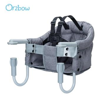 цена на Orzbow Children High Chair For Feeding Baby Booster Seat Portable Travel Folding Chair kids Toddler Hook-on Dining Table Chair