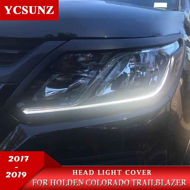 Head Lamp Light Cover Black Trim Fit Chevrolet Chevy Holden Colorado 2017-2018