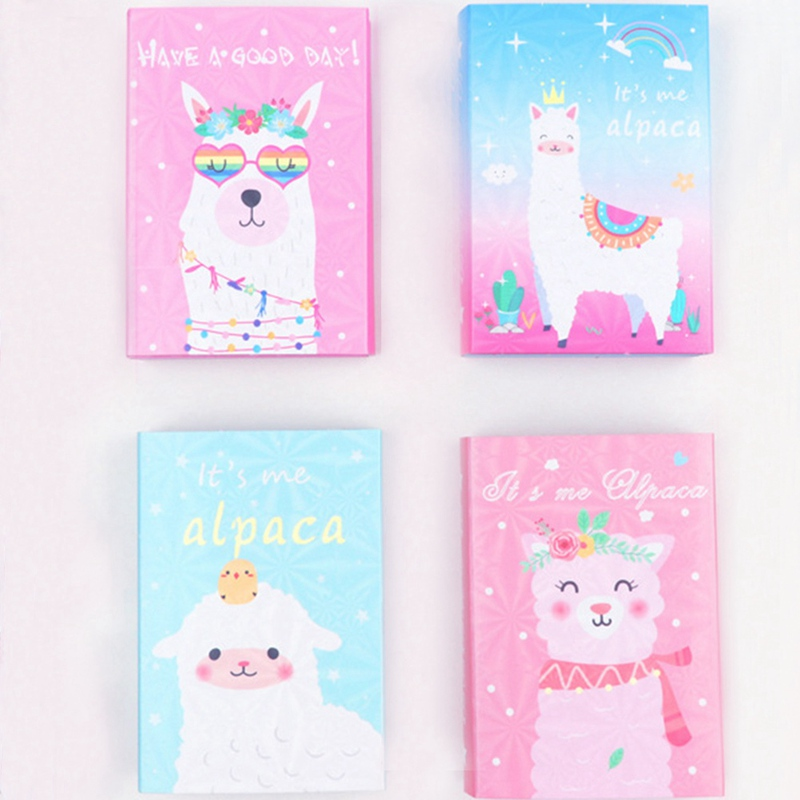 Colorful Cute Alpaca Memo Pad Sticky Notes Memo Notebook Stationery 6 Folding Memo Pad N Times Sticky Notes School Supplies