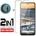 2-в-1 переднее закалённое Защитное стекло для Nokia 7,2 5,3 6,2 5,4 2,3 2,4 8,3 5G мягкий Камера объектив защитная пленка Экран протектор Закаленное Стекло