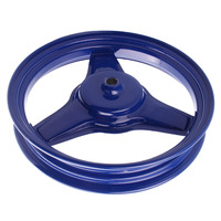 Durable Motorcycle Rear Wheel Rim Replacement for Yamaha PY50 PW50 PEEWEE PY/PW Replace Accessories , Metal, Blue