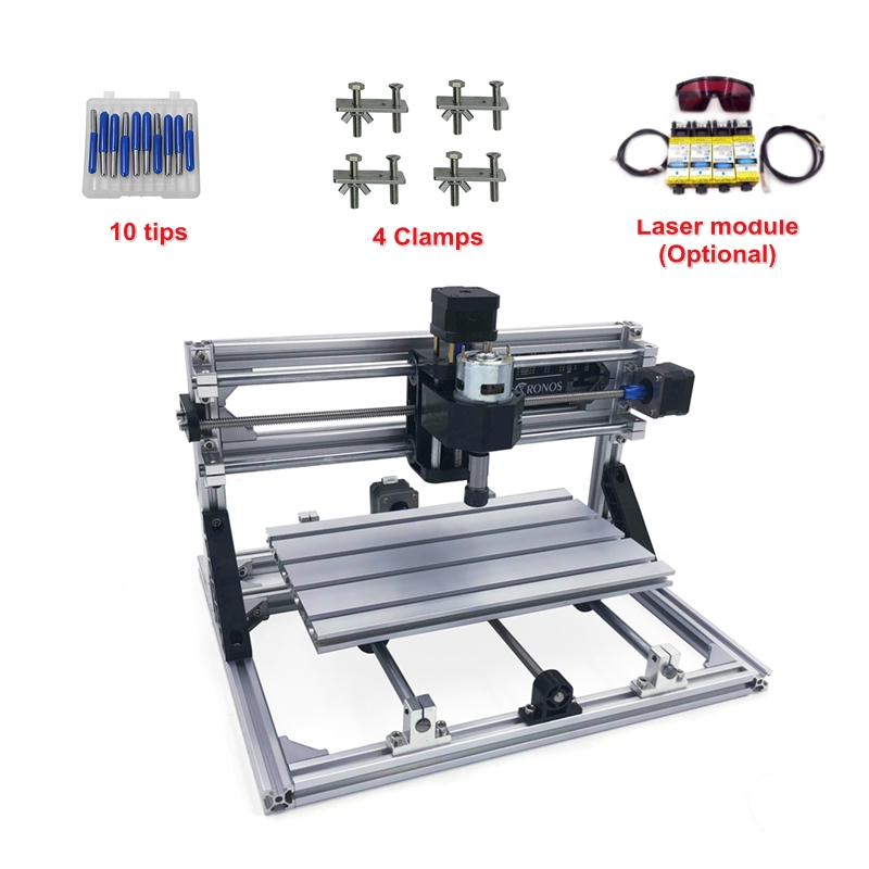 Wood Carving machine mini <font><b>CNC</b></font> <font><b>2418</b></font> PRO without laser or with laser head Engraving Machine Milling Wood Router image