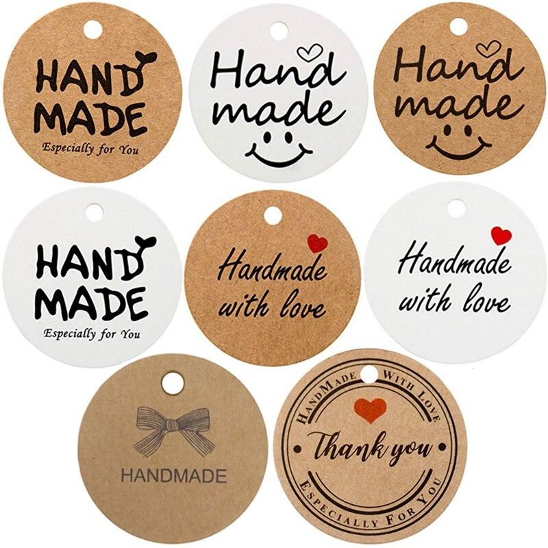 Obrigado feito à mão com amor especialmente para você tags para embrulhar etiqueta de presente pacote decoração pendurar tags festa de casamento favores