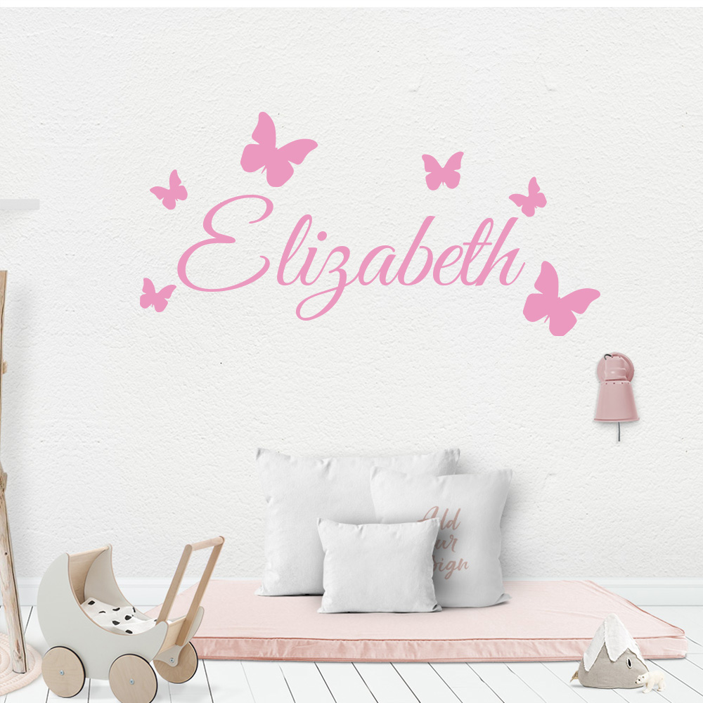 Image 5 - Cartoon Personalized Custom Name Mickey Mouse Wall Sticker Decals Murals Poster For Kids Babys Room Decoration Bedroom Decor-in Wall Stickers from Home & Garden