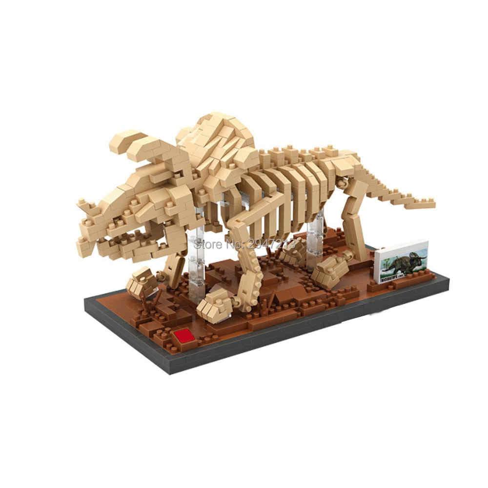 Heißer Lepining klassische creators Jurassic Dinosaurier Fossil Triceratops mini Micro Diamant Bausteine modell ziegel spielzeug für geschenk