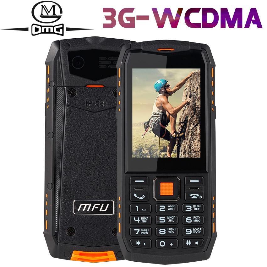 IP68 Waterproof Shockproof Russian Keyboard WCDMA 3G Mobile Phone 2.8