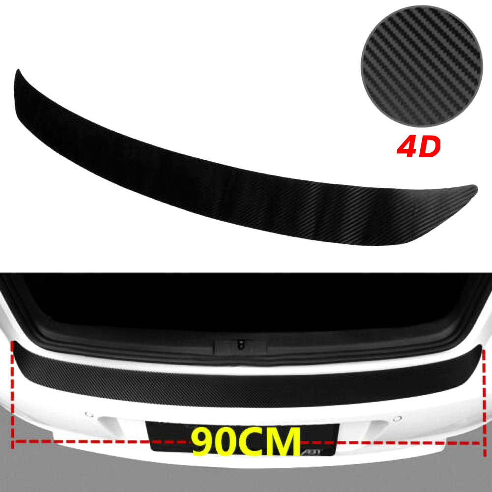 Car SUV Rear Bumper Sill Protector Plate Rubber Cover Guard Pad Moulding Trim Car DIY Rubber Pad Trim Anti Scratch Cover Strip