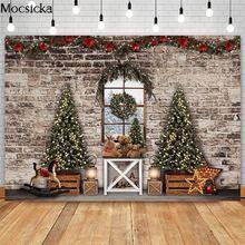 Mocsicka рождественское окно кирпичная стена фотография Фон