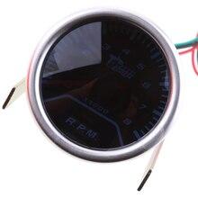"""Универсальная """" 52 мм гоночная синяя светодиодная подсветка автомобиля 0-8000 оборотов в минуту Тахометр Датчик"""