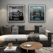 Póster clásico de la motocicleta de la pintura de la pared del arte nórdico de la impresión de la cita de la imagen para la sala de estar en la decoración del hogar de la pared