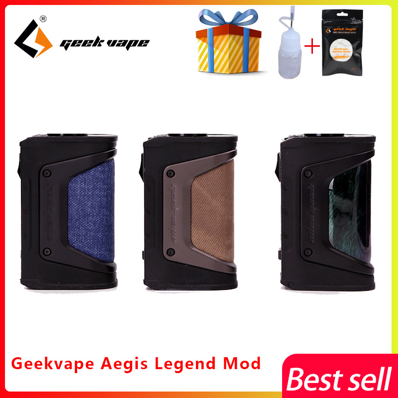 New color GeekVape Aegis mod aegis Legend 200W TC Box MOD Powered by Dual 18650 batteries e cigs No Battery for zeus rta blitzen
