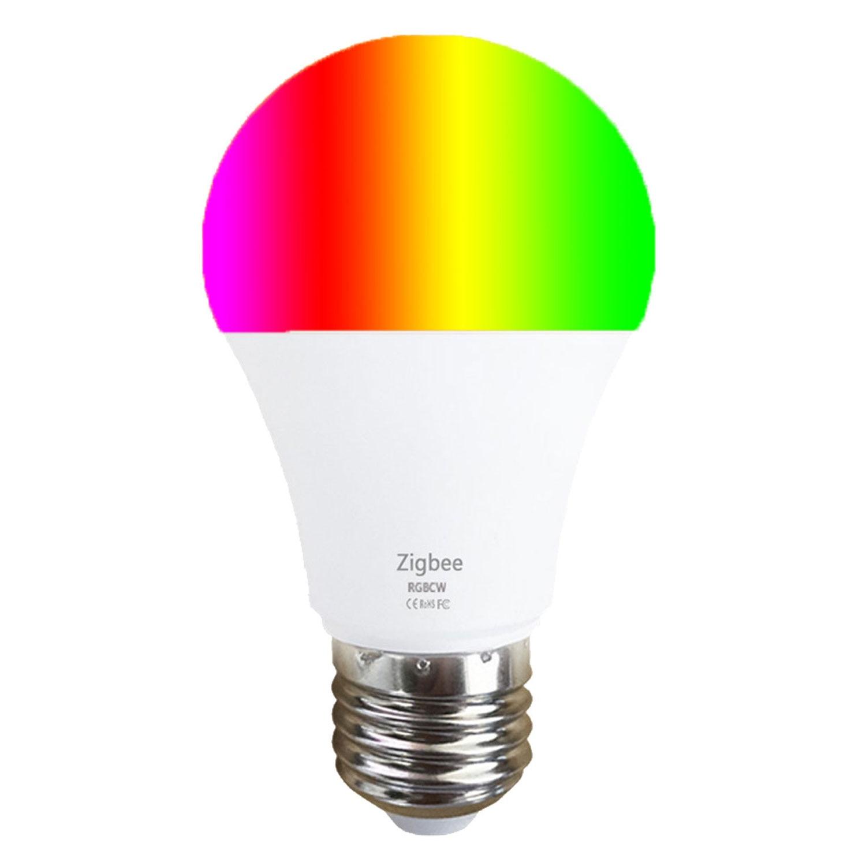 Yeyanfei дешевле Zigbee умная Светодиодная лампа для дома светильник лампа 9 Вт E27 RGBCW для Tuya Smart Life Alexa и Google Assistant