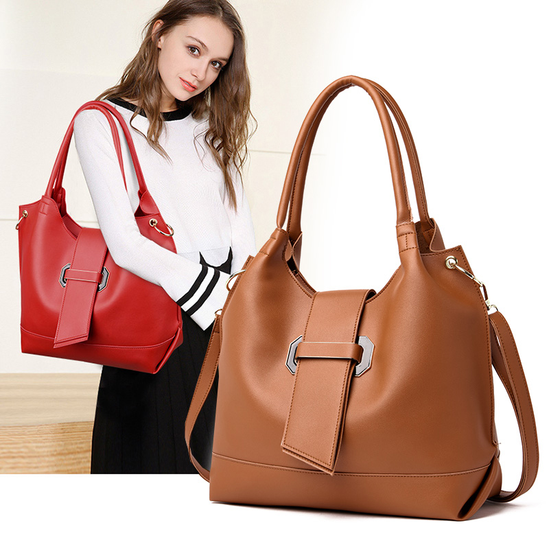 Fashion Women's PU Leather Handbag Shoulder Bag Purse Card Holder 3pcs Set Tote 1