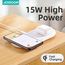 Joyroom 15W hızlı kablosuz şarj için Samsung Galaxy S7 S6 kenar S8 S9 S10 artı Usb kablosu iPhone 8x11 taşınabilir şarj cihazı