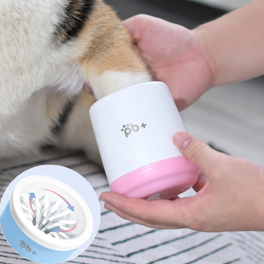 Dog Foot Wash Cup Puppy Muddy Paw Clean Tools Pet Manual Rotary Cleaner Mug Quickly Wash Foot Cleaning Bucket For Dogs