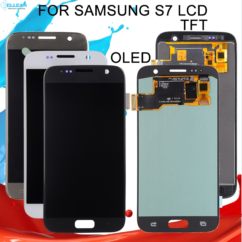 Catteny 1Pcs <font><b>S7</b></font> LCD For <font><b>Samsung</b></font> <font><b>Galaxy</b></font> <font><b>S7</b></font> <font><b>Display</b></font> G930F <font><b>G930FD</b></font> G930S G930L G930 Lcd Touch Screen Digitizer Assembly+HomeButton image