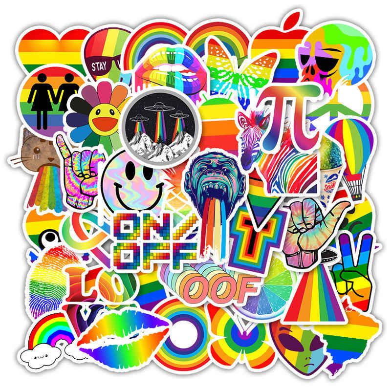 Cute Cartoon Rainbow Yellow Pink Styles Sticker VSCO ...