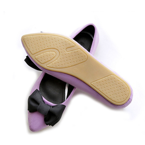 Image 2 - BEYARNEDrivingกระเป๋ารองเท้าผู้หญิงแบนรองเท้าสุภาพสตรีรองเท้าแตะสีดำและสีม่วงโบว์PLUSขนาดใหม่ARRIVAL SLIPสำหรับPARTY