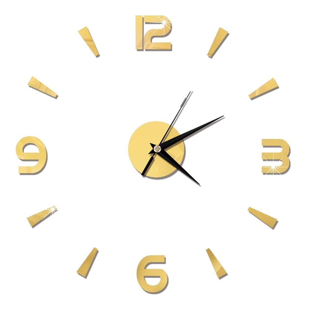 2019 New 3D Wall Clock Mirror Wall Stickers Fashion Living Room Quartz Watch DIY Home Decoration Clocks Sticker reloj de pared 24