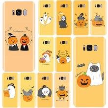 Para Samsung Galaxy S6 S7 S8 S9 S10 más S6EDGE NOTE8 9 Dibujos animados lindo de halloween Drácula de vector cubierta del teléfono del TPU del caso