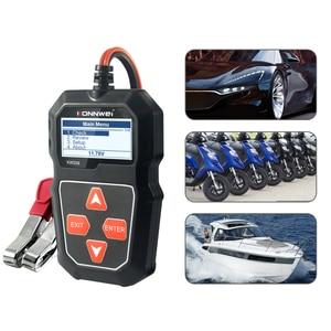 Image 3 - KONNWEI KW208 Battery Tester Car Digital 12V 100 2000CCA Cranking Charging System Test Tool Automotive Battery Capacity Tester