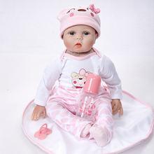22 дюйма перерожденные куклы Младенцы милый мягкий ручной работы