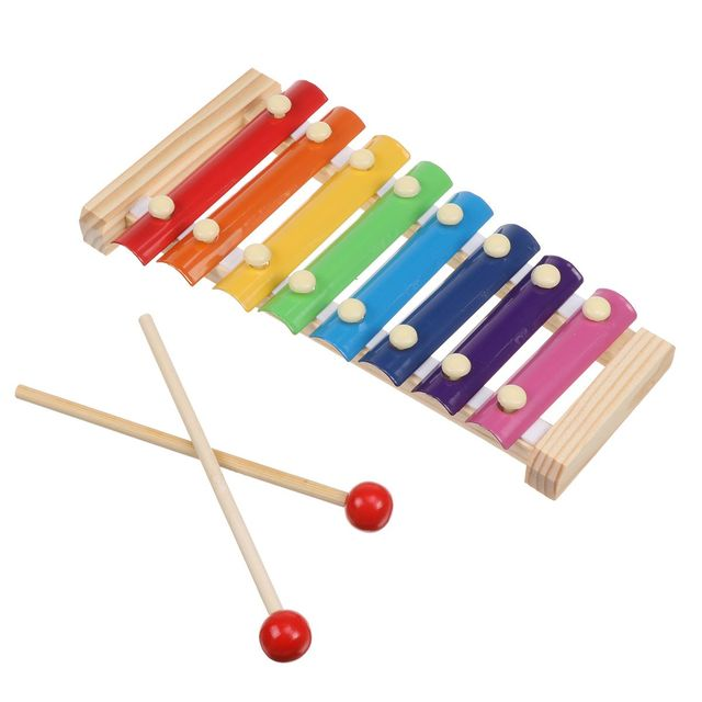 27pcs Baby Toy Music Instrument Toys Wooden Percussion Xylophone Maraca Rattles Kids Preschool Education Toys With Storage Bag 6