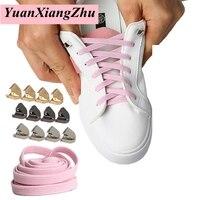 1 paire de lacets plats élastiques baskets de course lacet de verrouillage facile lacets de chaussures paresseux pour enfants adultes pas de lacets de cravate