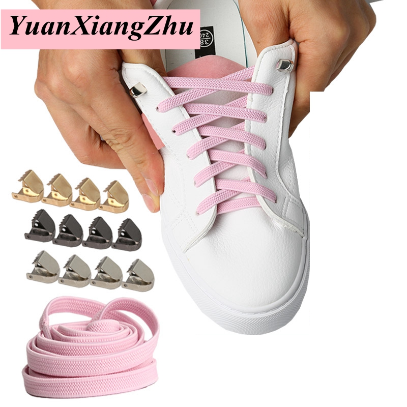 1Pair Elastic Flat Shoelaces Running Sneakers Shoelace Easy Locking Shoelace Lazy Shoe Laces For Children Adult No Tie Shoelaces
