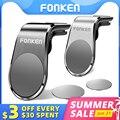 Магнитный автомобильный держатель для телефона FONKEN, подставка с креплением на вентиляционное отверстие для iPhone X 11 12 Pro Huawei Samsung Xiaomi, Магнитн...