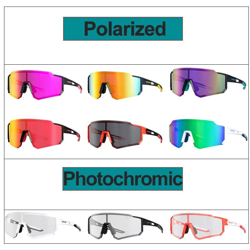 Big Sale╙CATEYE Bicycle Sunglasses Polarized UV400 Photochromic Running Fishing Hiking Outdoor