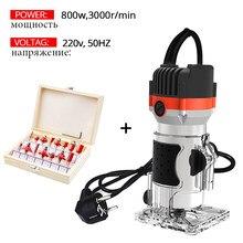 Défonceuse à bois électrique 800w, 30000 tr/min, Kit Combo d'outils, Machines à bois électriques, menuiserie électrique, outils de coupe manuels avec fraise