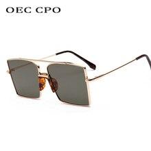 OEC CPO Fashion Hot Square Eyewear 2019 Trendy Sunglasses Women Selling Metal Sun glasses High quality Oculos UV400 O194