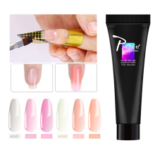 Zation White Nail Tips Poly Gel Acrylic Nude Clear UV Builder Polygel French Gel Poly Extension Gel Lak Varnish Hybrid Nail Tips zwtale polygel nail art clear camouflage color nail tip form crystal uv gel nail polish led acrylic builder tips poly gel