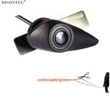 Dc 12v à prova dwide água grande angular 520l ccd hd cor vista frontal câmera de estacionamento para hyundai série logotipo marca dianteira emblema câmera