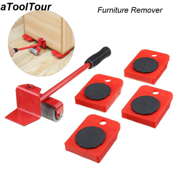 Professional Furniture Transport Lifter Tool Set Heavy Duty Stuffs Moving Hand Tools Set Furniture Mover Wheel Bar Roller Device
