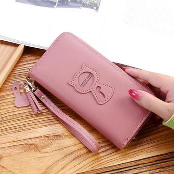 New Long Womens Wallet Female Purses Tassel Coin Purse Card Holder Wallets Pu Leather Clutch Money Bag